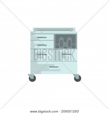 Medical equipment, chest of drawers vector Illustration isolated on a white background
