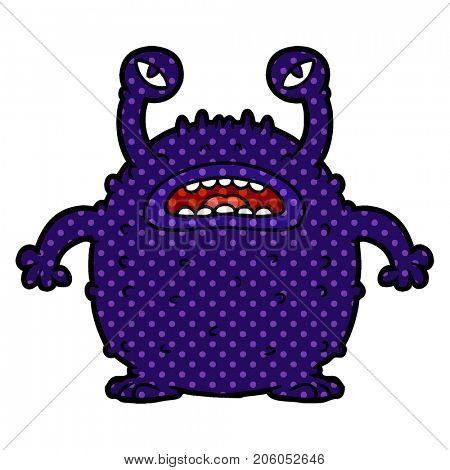 grumpy cartoon alien