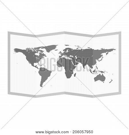 Folded world map flat style vector photo bigstock folded world map flat style vector illustration gumiabroncs Choice Image