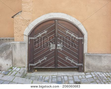 historic gate in Rothenburg ob der Tauber a town in Middle Franconia in Bavaria Germany