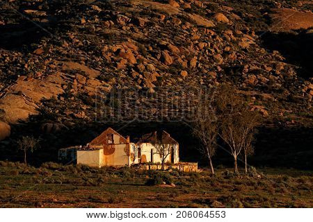 An old abandoned rural farm house, South Africa