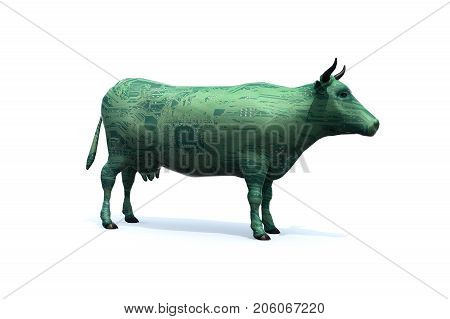 Cow That Is Colored Like An Electronic Circuit