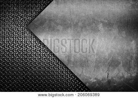 stained metal with diamond plate background