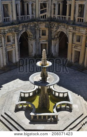 Courtyard In Convent Of Christ Monastery In Tomar, Portugal