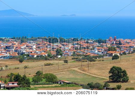 Beautiful Summer Sea Coast (halkidiki, Greece).