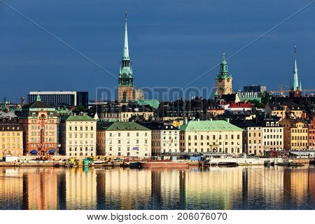 the old part of Stockholm in a sunny day, Sweden