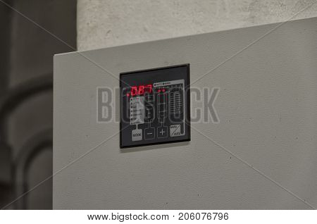View of a graphic display of a reactive power regulator