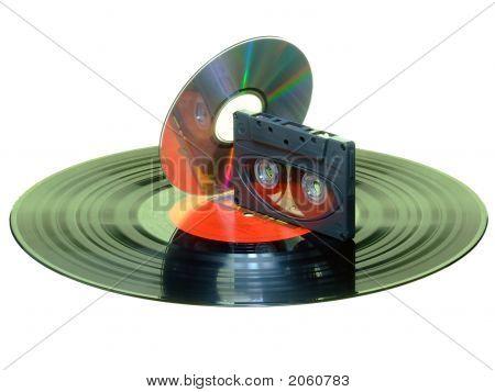 Record, Cassette, C D