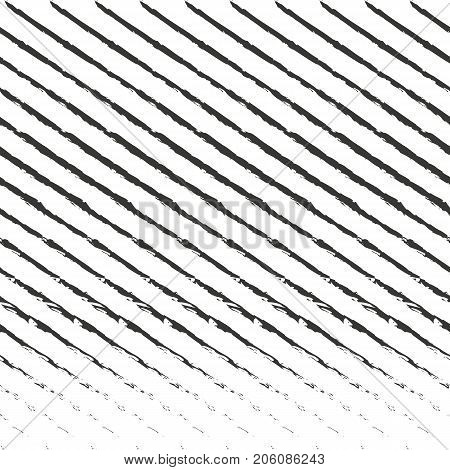 Diagonal stripes pattern. Vector seamless striped texture. Grunge, brush, strokes slanted lines. Sketchy black and white abstract background. Repeat graphic element. Design for prints, covers. Grunge background. Simple pattern. Geometric pattern.