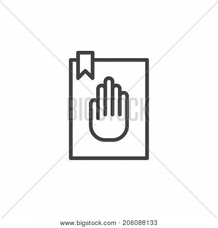 Oath line icon, outline vector sign, linear style pictogram isolated on white. Symbol, logo illustration. Editable stroke