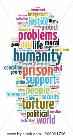 Humanity Word Cloud Concept