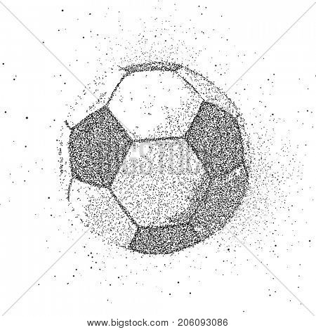 Soccer ball from particles