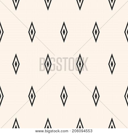 Argyle vector seamless pattern, simple geometric texture with rhombuses. Abstract monochrome minimalist background, repeat geometrical tiles. Stylish funky design element for decor, clothing, textile. Diamonds pattern.