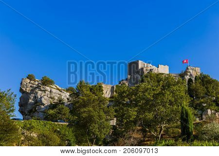 Fort in Les Baux De Provence - Provence France - travel and architecture background