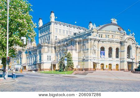 Kiev,Ukraine, MAY 12, 2013: the building of the Opera and Ballet Theater in Kiev