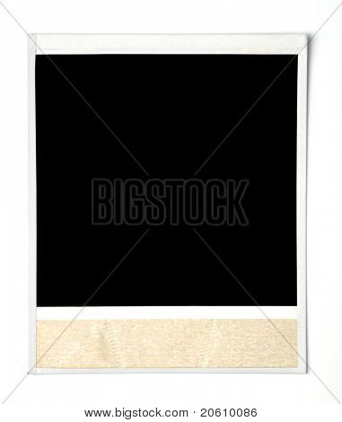 Blank instant photo isolated
