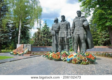 Vinnitsa,Ukraine, MAY  27, 2012:  Monument to Soviet soldiers, liberators of the city of Vinnitsa from the German invaders