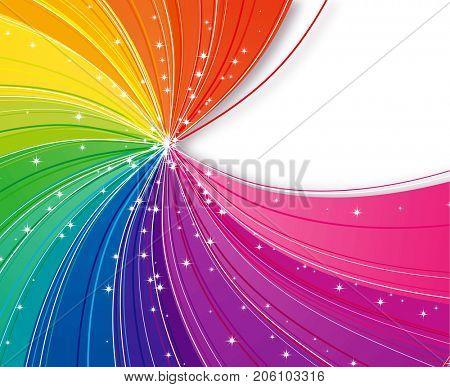 Abstract rainbow strips
