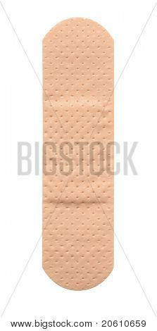 Single band aid plaster on white background