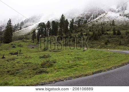 Road For Go To Top Of Mountain In Kaunergrat Nature Park