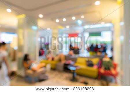 Abstract Blurred background of hotel lobby