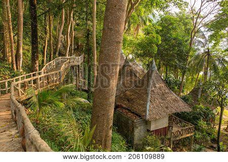Jungle bungalow resort on Koh Chang island, Thailand