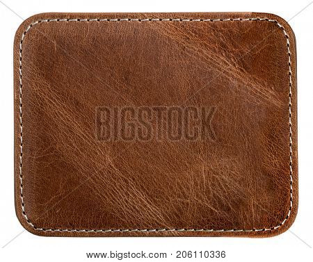 brown leather with seam texture or background for design
