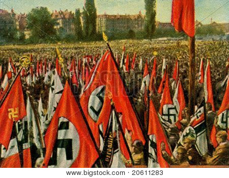 Nazi Demonstration Nuernberg 1923