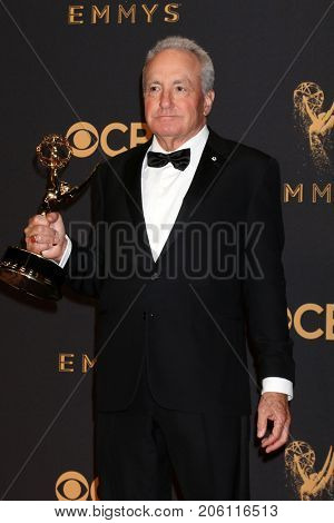 LOS ANGELES - SEP 17:  Lorne Michaels at the 69th Primetime Emmy Awards - Press Room at the JW Marriott Gold Ballroom on September 17, 2017 in Los Angeles, CA