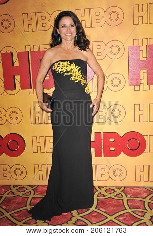 Julia Louis-Dreyfus at the 2017 HBO's Post Emmy Awards Reception held at the Pacific Design Center in West Hollywood, USA on September 17, 2017.