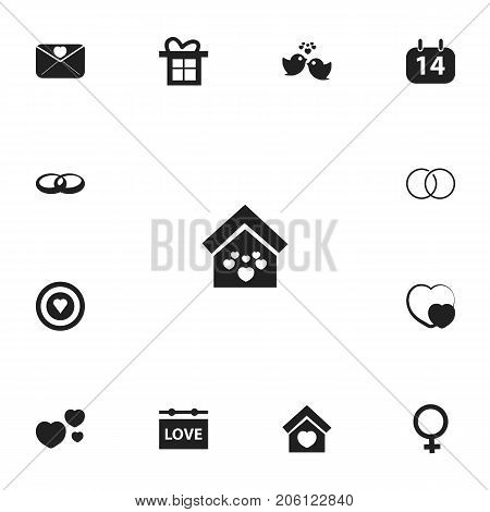 Set Of 13 Editable Amour Icons. Includes Symbols Such As Engagement, Building, Dartboard And More