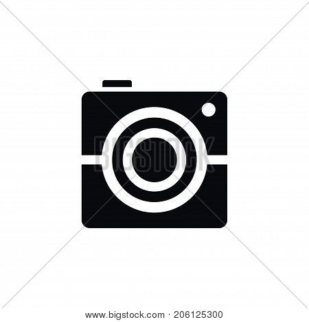 Photocamera Vector Element Can Be Used For Photography, Image, Photocamera Design Concept.  Isolated Photography Icon.