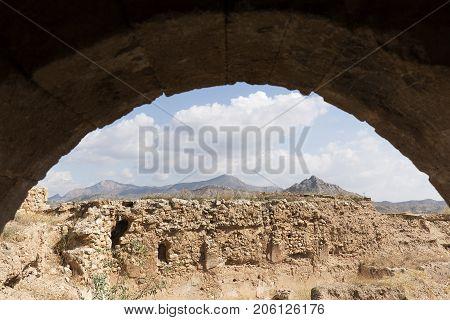 View From An Arch Of The Castillo De La Mola