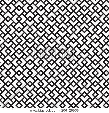 Seamless geometric art deco overlap pattern background