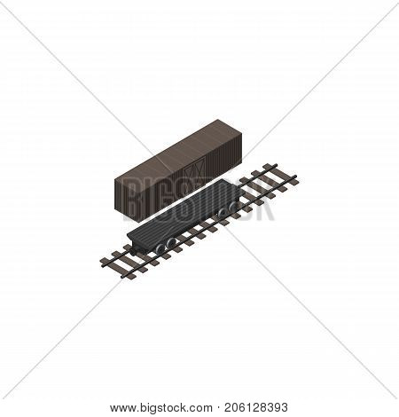 Delivery Tank Vector Element Can Be Used For Container, Wagon, Tank Design Concept.  Isolated Container Wagon Isometric.