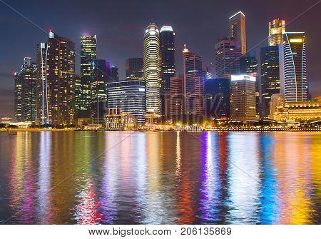 Singapore Downtown Business Architectura, Postcard