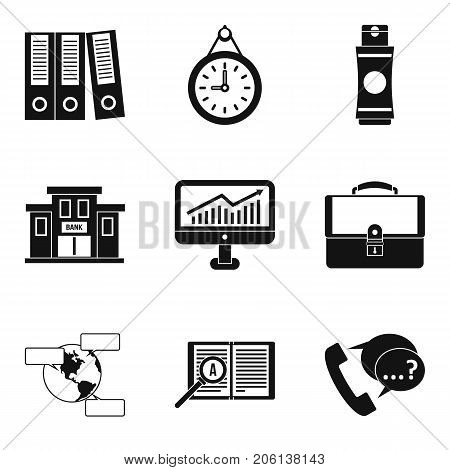 Business budget icons set. Simple set of 9 business budget vector icons for web isolated on white background