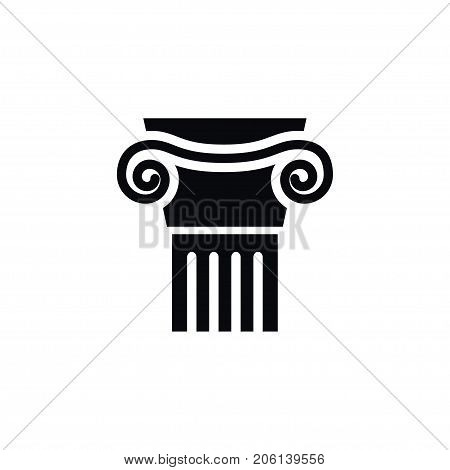 Pedestal Vector Element Can Be Used For Sculpture, Ornate, Pedestal Design Concept.  Isolated Ornate Icon.