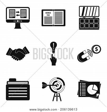 Earning icons set. Simple set of 9 earning vector icons for web isolated on white background