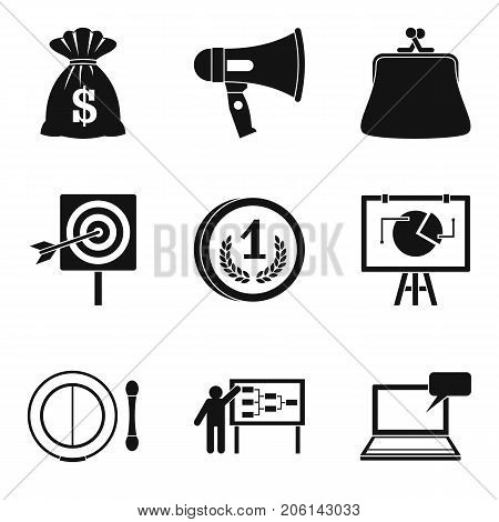 lot of money icons set. Simple set of 9 lot of money vector icons for web isolated on white background