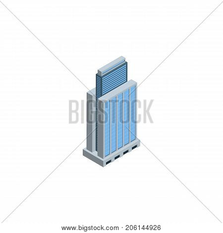Urban Vector Element Can Be Used For Residential, Urban, Skyscraper Design Concept.  Isolated Residential Isometric.