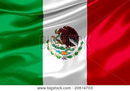 satin mexican flag