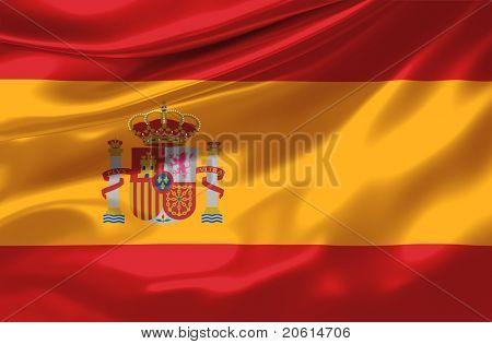 Satin Spain flag
