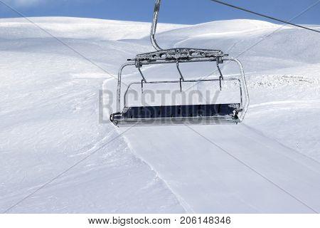Ski Slope, Chair-lift On Ski Resort