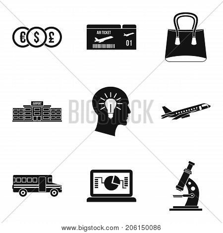 Trap icons set. Simple set of 9 trap vector icons for web isolated on white background