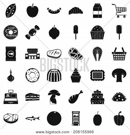 Cash register icons set. Simple style of 36 cash register vector icons for web isolated on white background