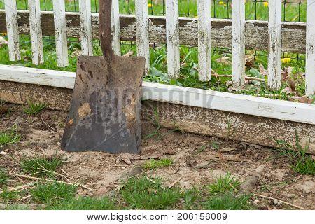 Dirty Shovel On Farm