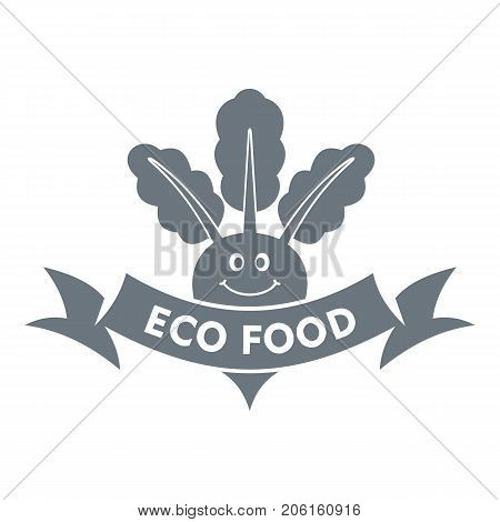 Beet logo. Simple illustration of beet vector logo for web