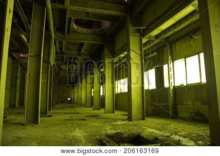 Abandoned industrial building of Voronezh factory of radio components