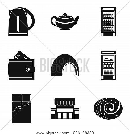 Sweet breakfast icons set. Simple set of 9 sweet breakfast vector icons for web isolated on white background